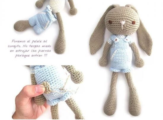 Long Eared Bunny Crochet Pattern