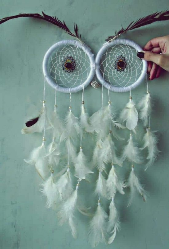 Owl dream catcher diy easy video tutorial the whoot for Materials to make a dreamcatcher