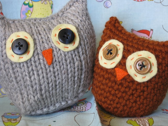 Owls Knitted and Crochet Free Pattern