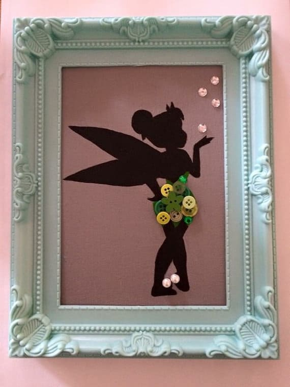 tinkerbell-button-wall-art