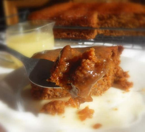 Worlds Best Gingerbread Cake with Lemon Sauce