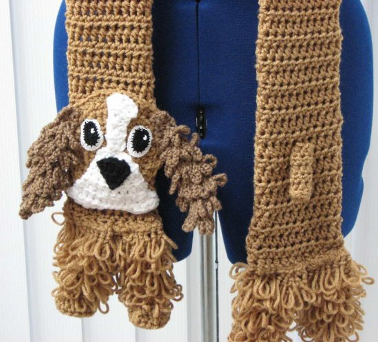 Cockerspaniel Crochet Scarf