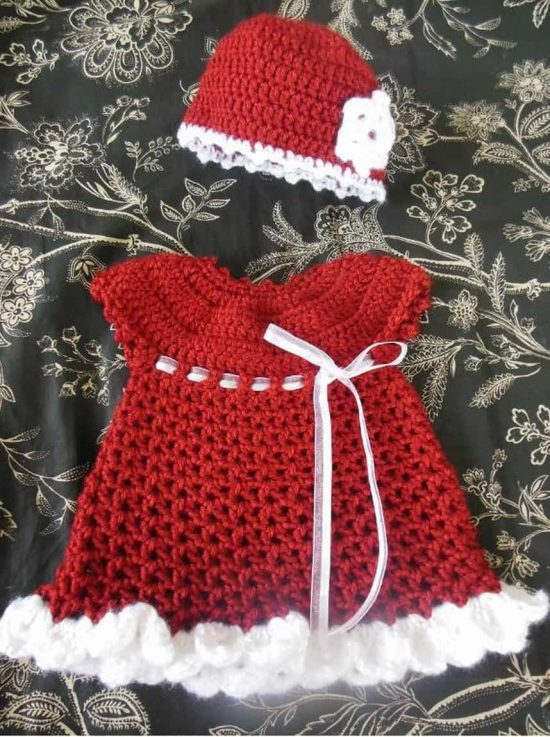 Crochet Baby Santa Dress Pattern