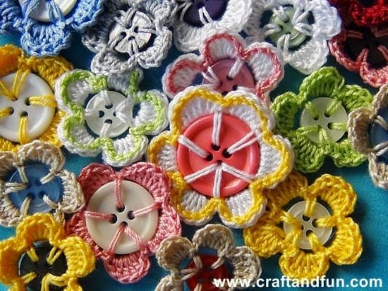 Crochet Button Flowers The WHOot