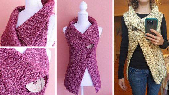 Crochet Peekaboo Button Wrap