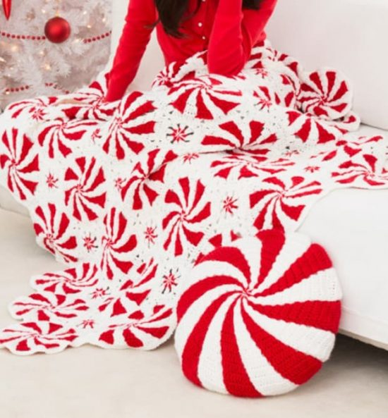 Crochet peppermint swirl afghan pattern the whoot for Peppermint swirl craft show