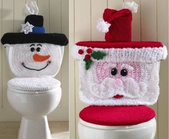 Crochet Santa Toilet Seat Cover Pattern And Snowman Version