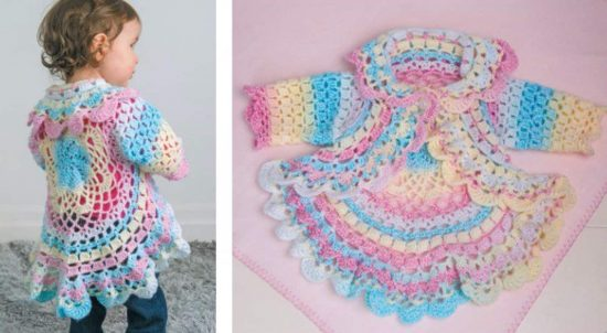 Crochet Toddler Lace Jacket