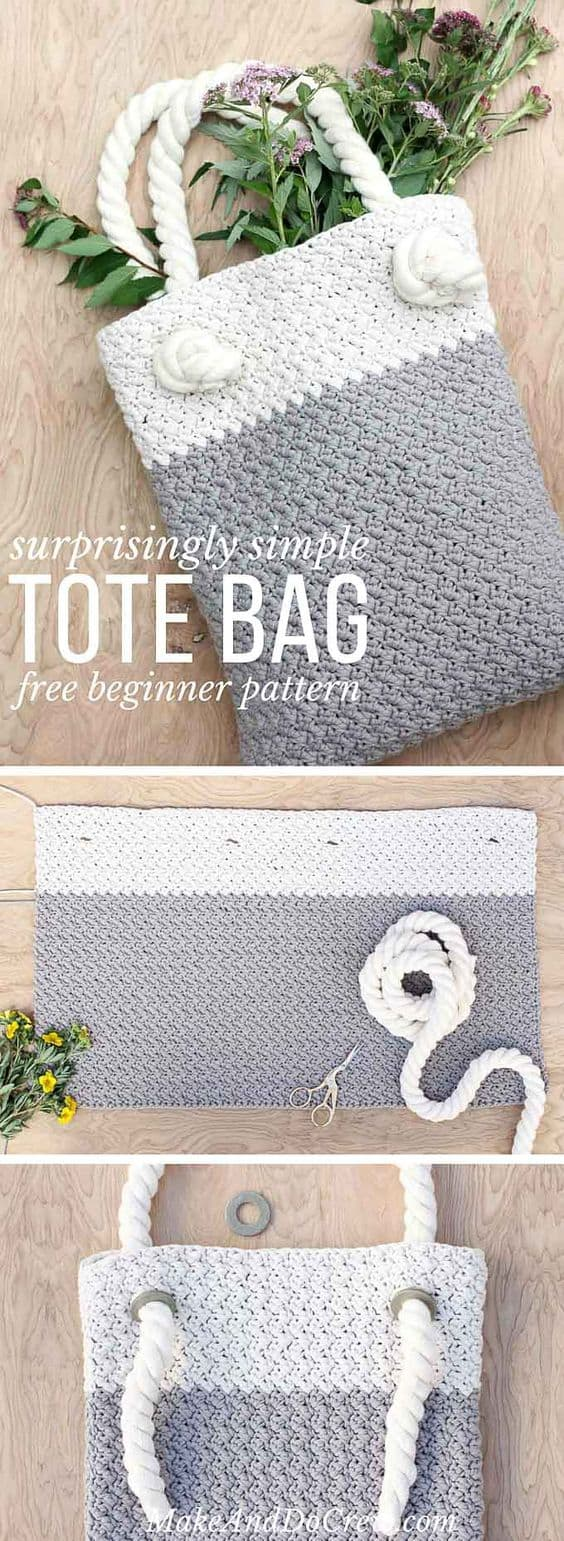Crochet Tote Bag Best Free Patterns | The WHOot