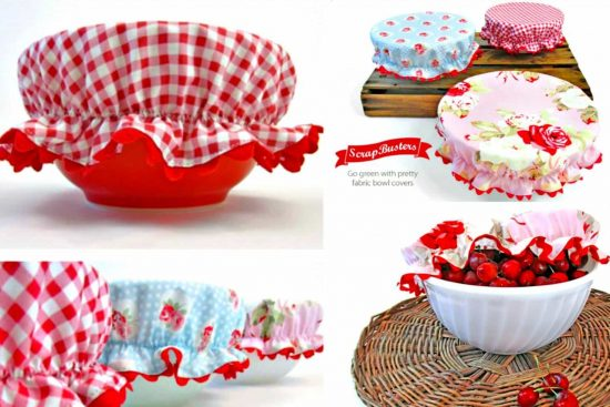 Elastic Reusable Bowl Covers Pattern