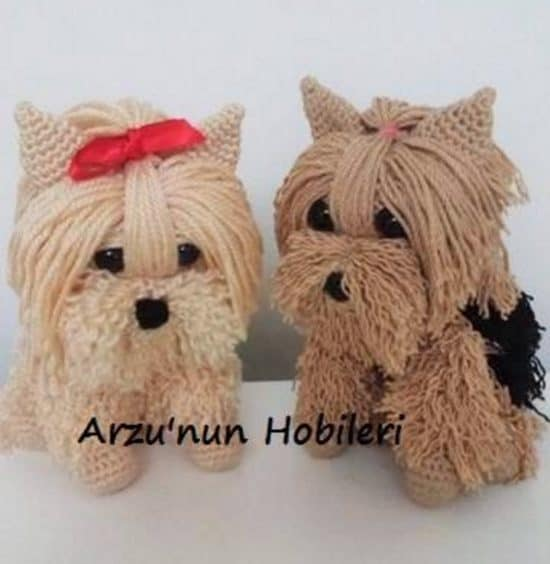 Free Crochet Yorkie Dog Pattern