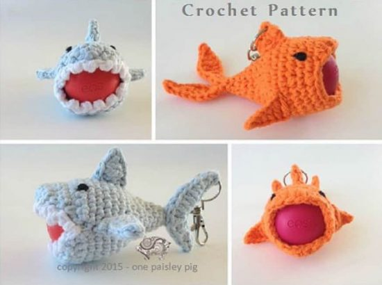 Goldfish Keyring Lip Balm Holder