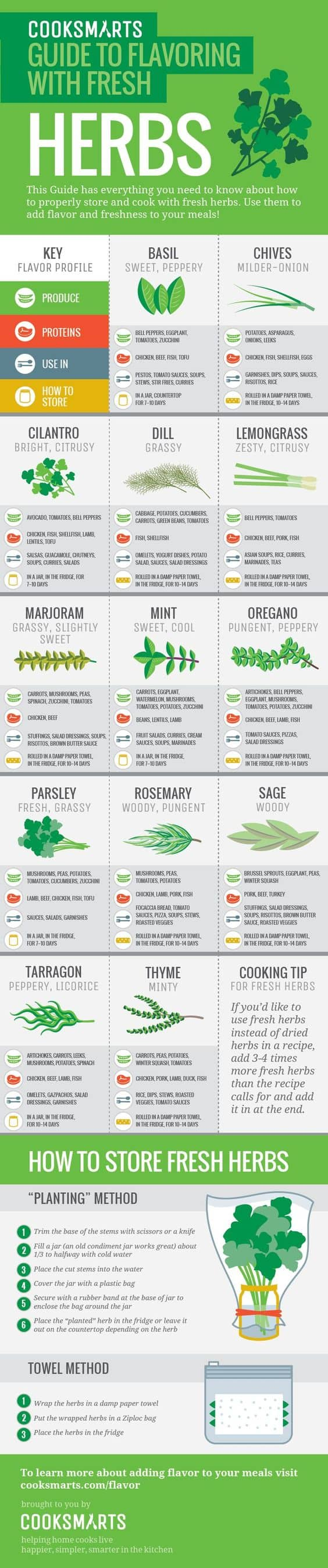 Guide To Flavour with Fresh Herbs