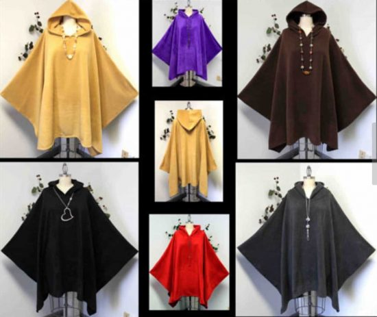 Hooded Fleece Poncho