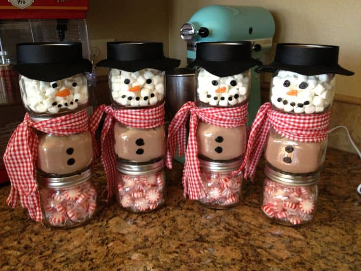 How To Make Super Cute Hot Cocoa Snowman Jars The Whoot