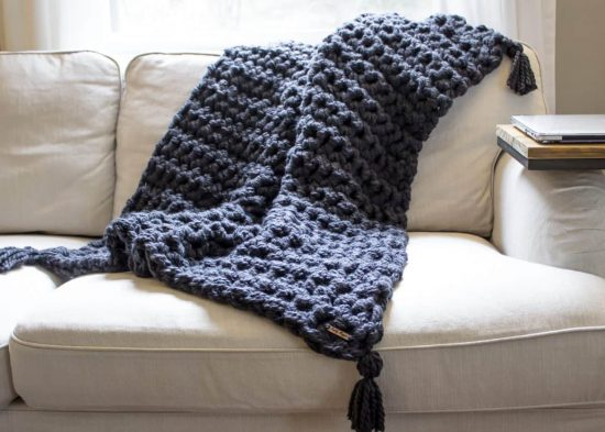 Hand Crochet A Chunky Blanket In One Hour The WHOot Stunning How To Make A Throw Blanket By Hand