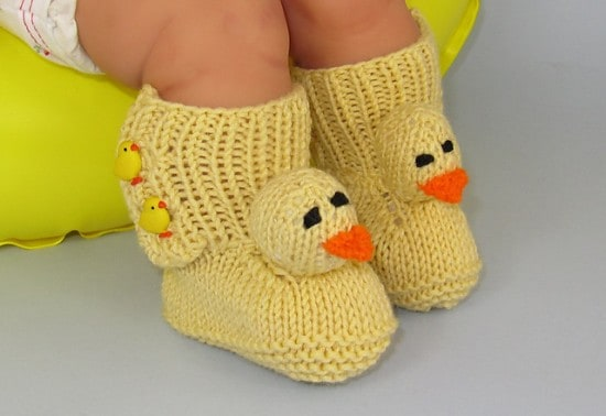 Knitted Duck Booties Pattern The WHOot