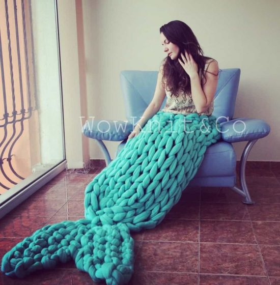 Knitted Mermaid Tail Super Chunky