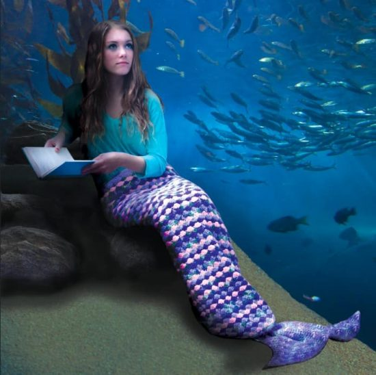 Mermaid Crochet Tail Blanket