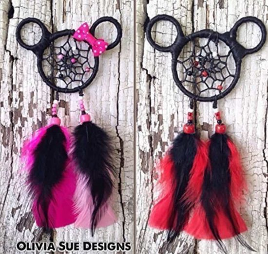 Mickey and Minnie Mouse Dream Catchers