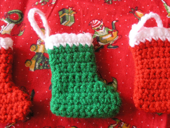 Mini Christmas Stockings Crochet Pattern