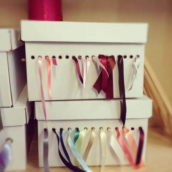 Shoe Box Ribbon Organiser