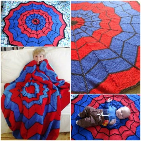 spiderman knitted blanket pattern