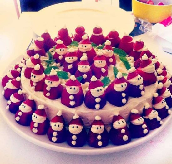 Strawberry Santa Cake Recipe