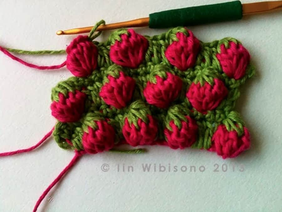 Strawberry Stitch Crochet Pattern Easy Video Instructions
