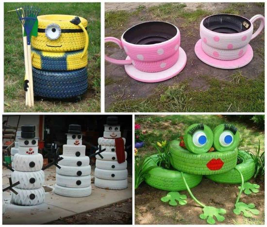 Tire Art Ideas The WHOot