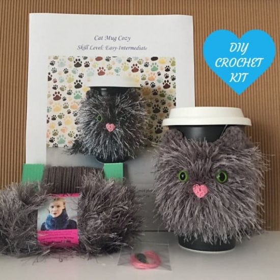Amigurumi Crochet Cat Mug Cozy Kit