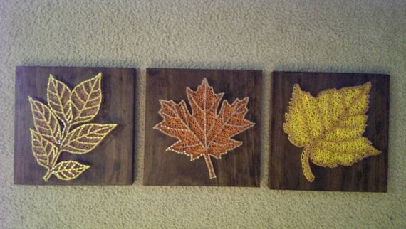 Autumn Leaf String Art