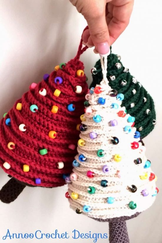 crochet christmas tree pattern the whoot