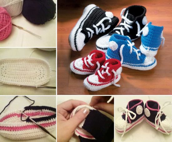 5fedb16292fa1 Crochet Converse Slippers Free Pattern Video Tutorial