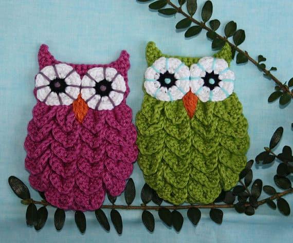 Crocodile Stitch Owl Pattern 2