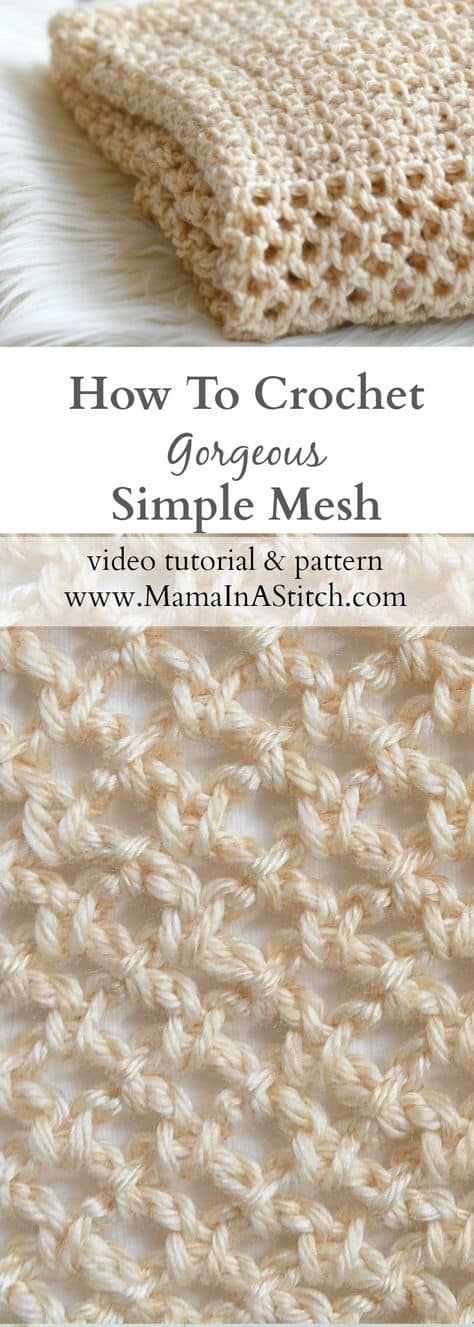 How To Crochet Mesh Stitch