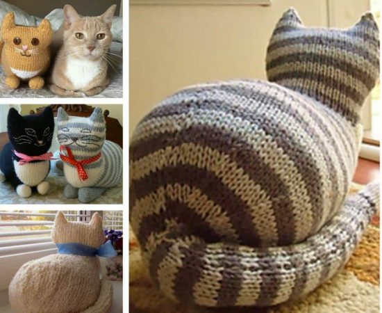Cat Design Knitting Pattern : Knitted Cats All The Cutest Free Patterns The WHOot