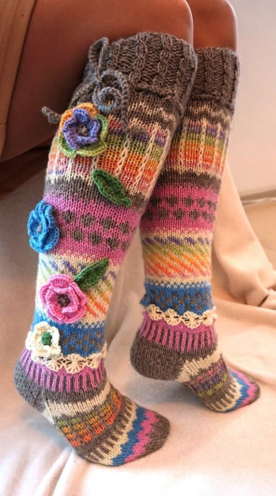 Knitting Pattern Knee High Socks : Knitted Knee High Socks Pattern Check Out All The Ideas