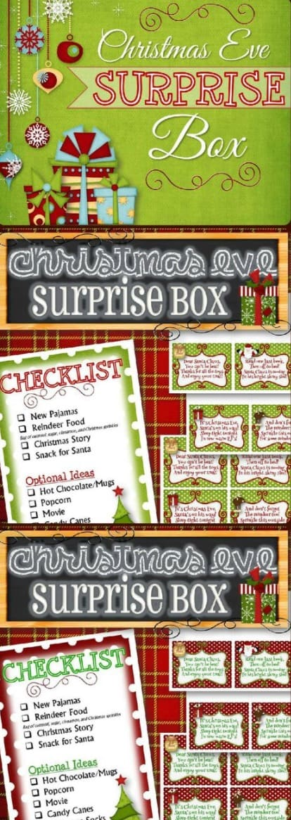 Night Before Christmas Box Templates