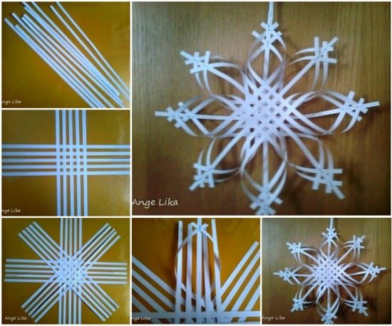 Paper Snowflake Ornament Instructions