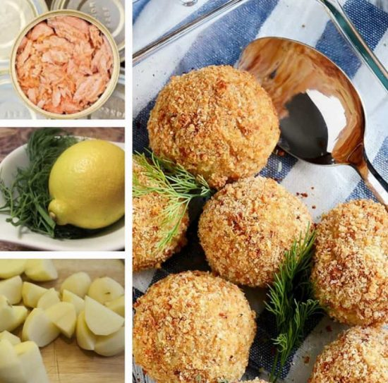 Baked Canned Salmon Balls
