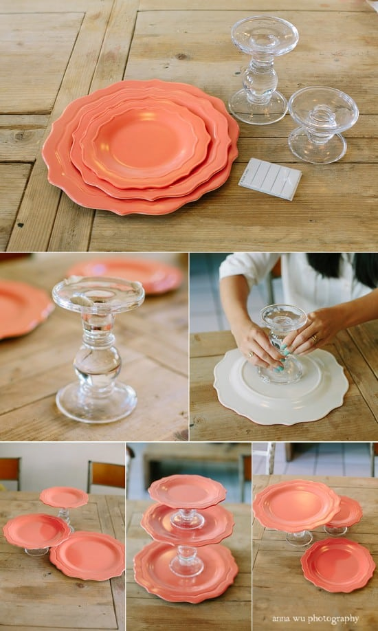 Cake Plate Stand DIY