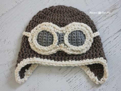 7ac12263e Crochet Aviator Hat Youtube Video Lots Of Free Pattern