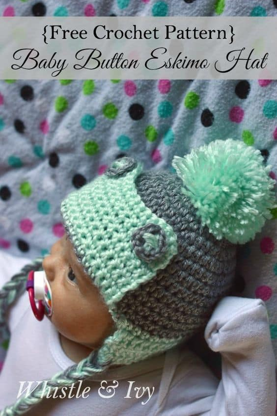 Free Crochet Pattern Baby Aviator Hat