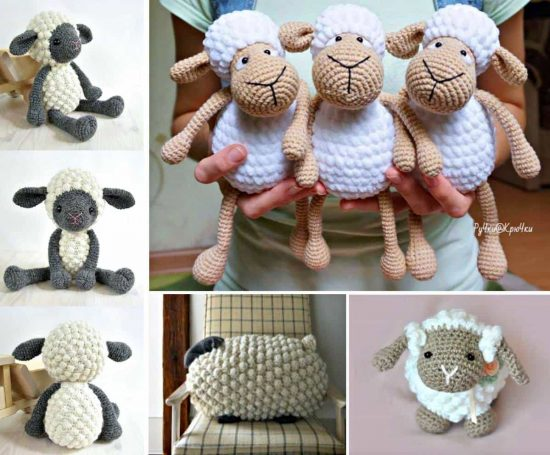 Crochet Bobble Sheep Pattern