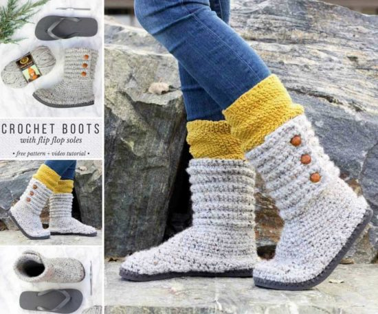 9172989d8165d0 Flip Flop Crochet Slippers Free Pattern Video Tutorial