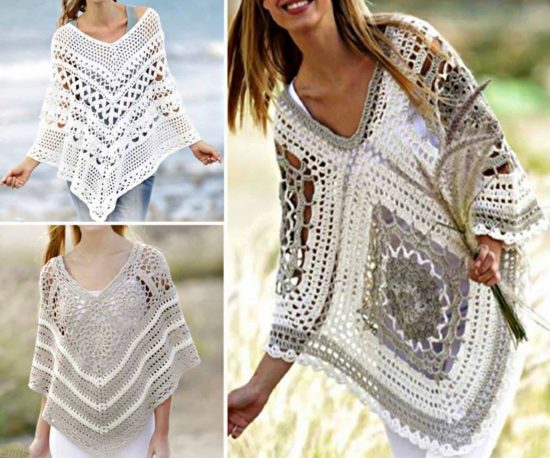 b62c2fc3c Beautiful Crochet Poncho Patterns That You Will Love