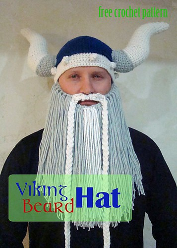 Crochet Viking Hat With Beard Free Pattern Video Tutorial