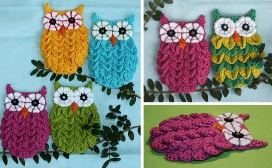Crocodile Owl Stitch Pattern