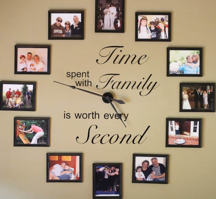 Family Photos Wall Clock Video Tutorial The Whoot